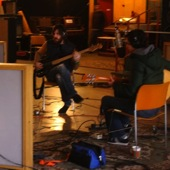 Two Sheds during their live Luxury Wafers session at The Hangar recording studio in Sacramento